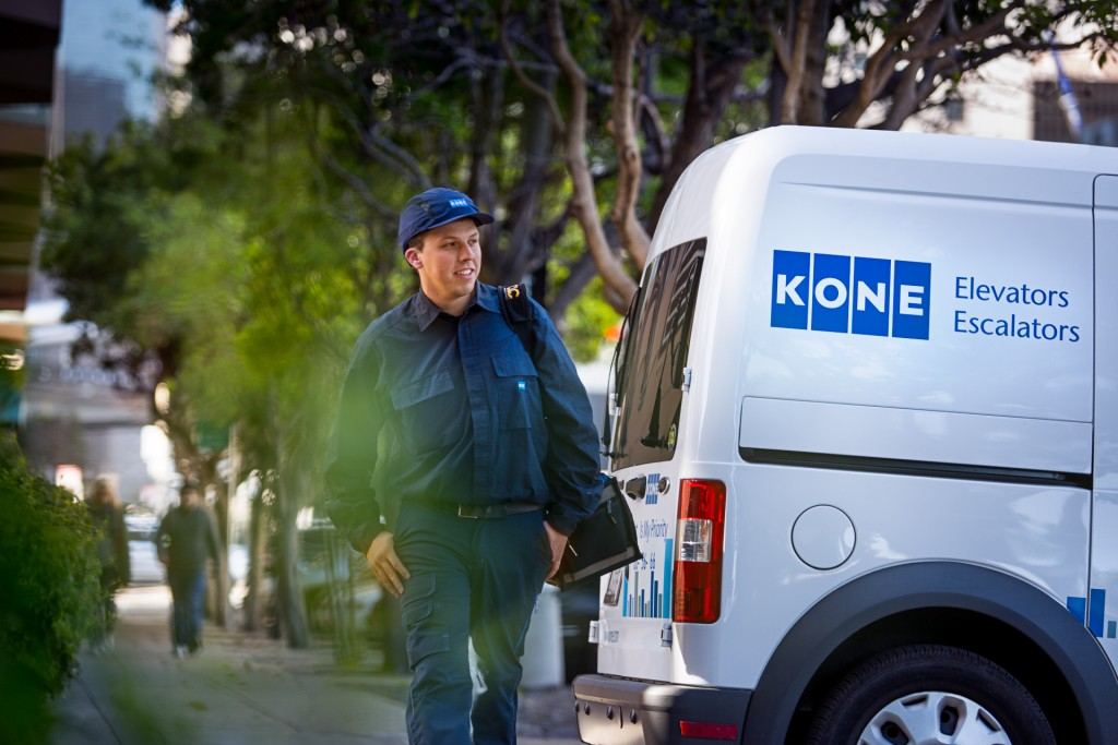 Kone service shoot in San Francisco, USA